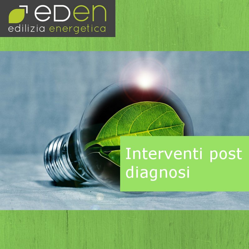 Diagnosi energetica: le proposte d'intervento