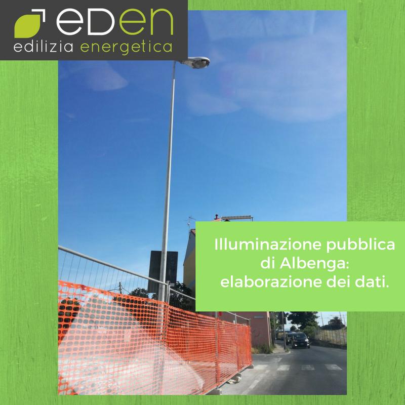 Illuminazione pubblica ad Albenga: l'analisi dei dati