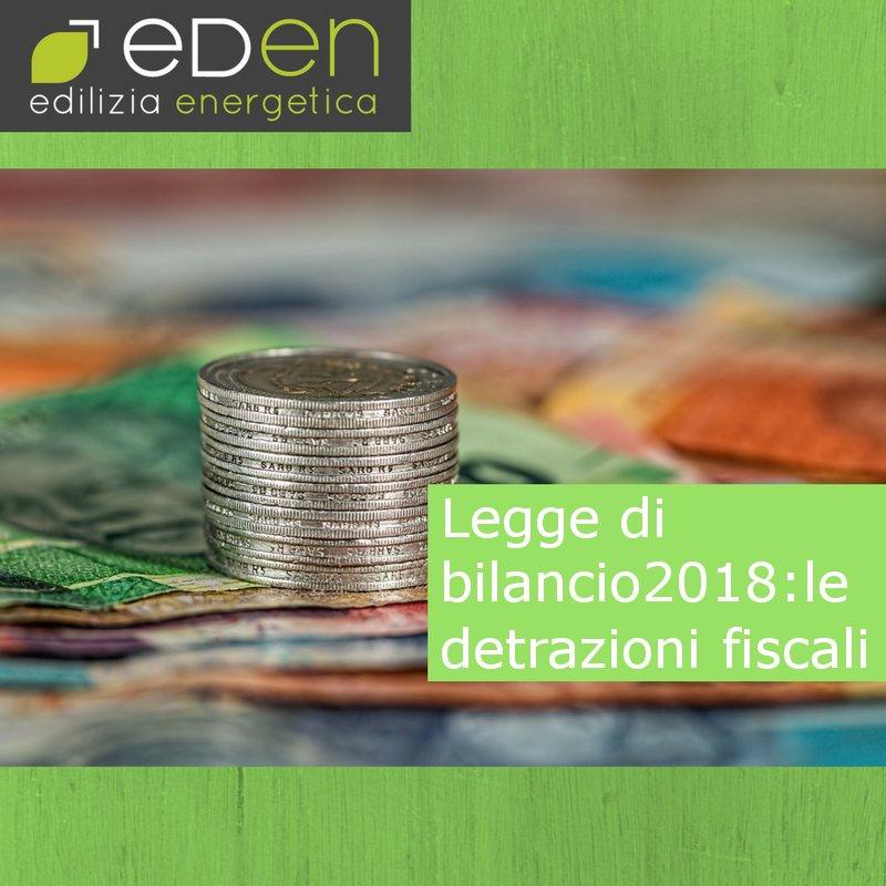 Legge di bilancio 2018: le detrazioni fiscali
