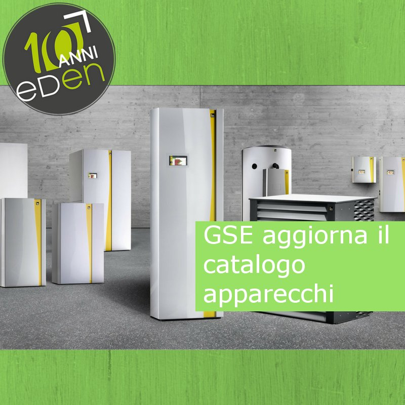 Il GSE ha aggiornato il catalogo degli apparecchi domestici