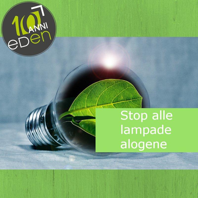 Stop alle lampade alogene da Settembre 2018