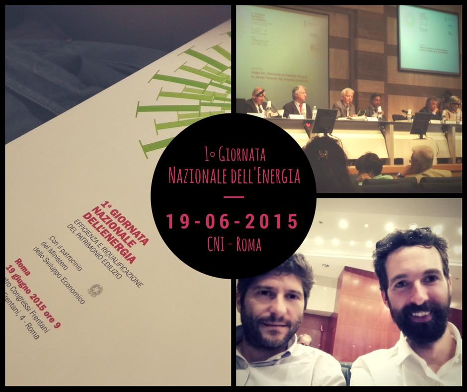 Prima Giornata Nazionale dell'Energia | Roma 19 giugno 2015