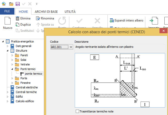 inserimento ponti termici software namirial termo 3