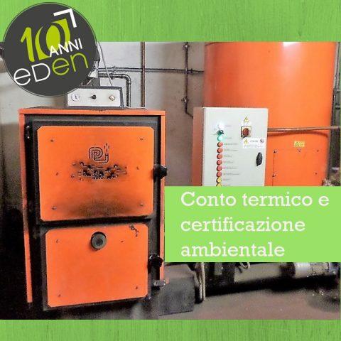 certificazione ambientale conto termico