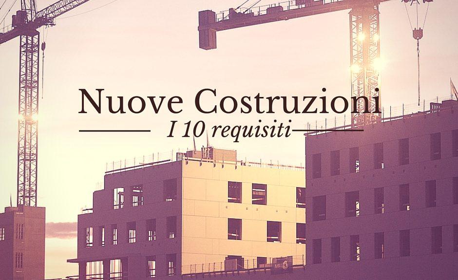 nuove costruzioni edilizia