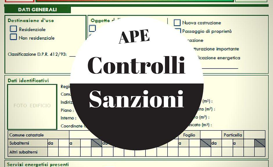APE sanzioni e controlli